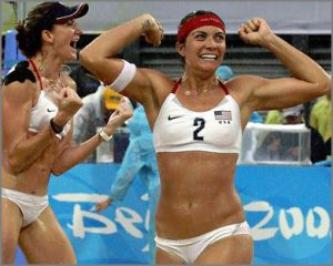 Misty May and Kerri Walsh, today's volleyballs super stars.