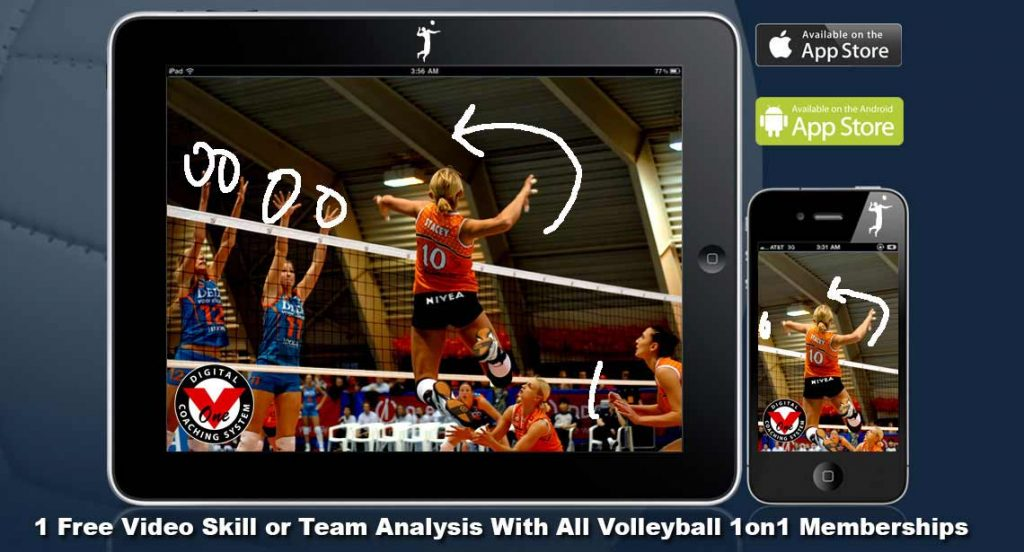 Online Volleyball Lessons, Evaluations and Analysis Slider